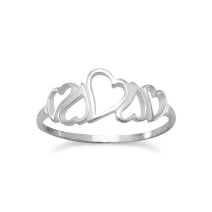 Picture of 5 Open Hearts Ring