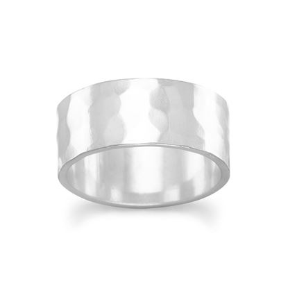 Picture of 8mm Hammered Band Ring