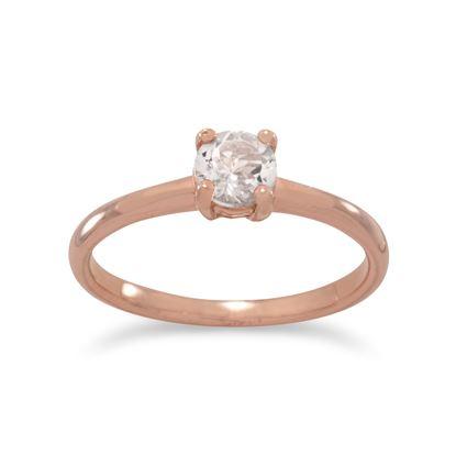 Picture of 14 Karat Rose Gold Plated Morganite Ring