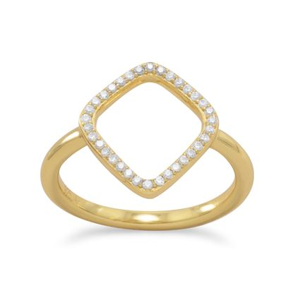 Picture of 18 Karat Gold Plated Signity CZ Kite Design Ring