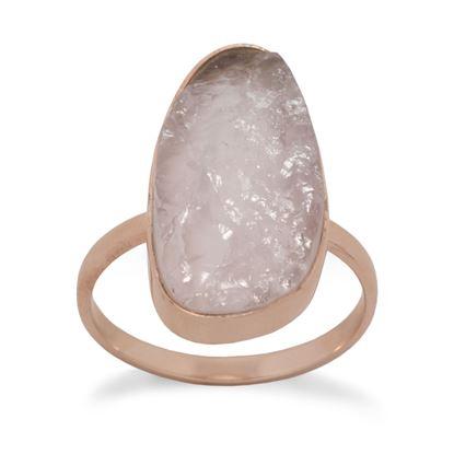 Picture of 14 Karat Rose Gold Plated Rose Quartz Ring