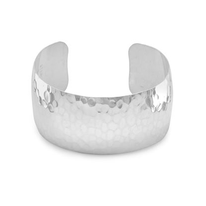 """Picture of 1.25"""" Hammered Cuff Bracelet"""