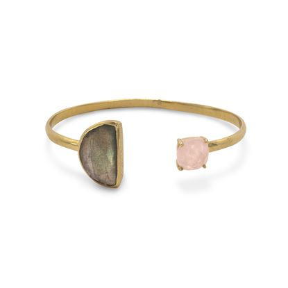 Picture of 14 Karat Gold Plated Multistone Cuff Bracelet
