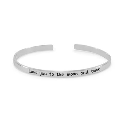 """Picture of """"Love you to the moon and back"""" Cuff Bracelet"""